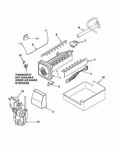 Ice Maker Diagram  U0026 Parts List For Model Pbf2253hew Maytag