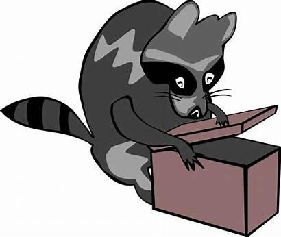 Box Opening Raccoon Clip Svg Onlinelabels