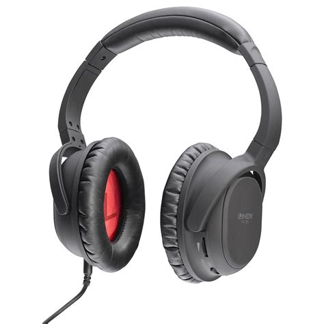 nc 60 active noise cancelling headphones from lindy uk