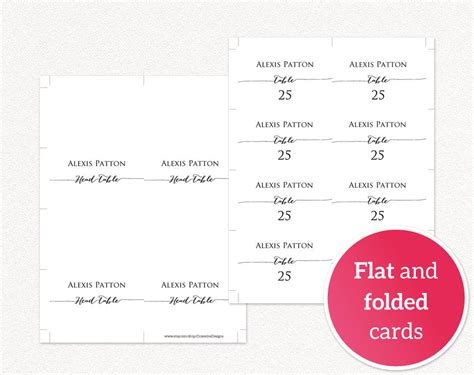 Place Card Template Wedding Place Card Templates 183 Wedding Templates And