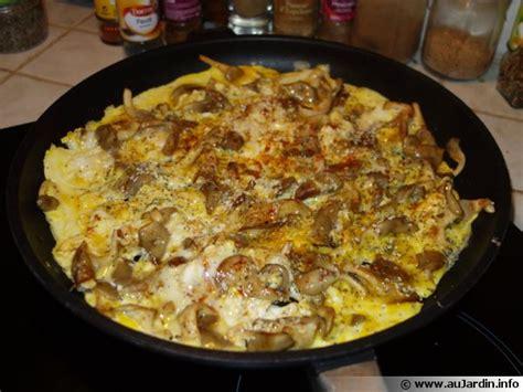 cuisson des pleurotes recette de cuisine omelettes aux pleurotes et aux deux graines recette de