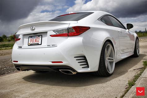 lexus coupe white white lexus rcf on vossen wheels has the look of a cult