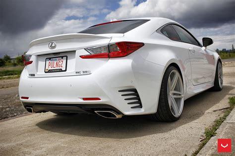 white lexus rcf  vossen wheels      cult
