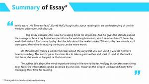 Essay Thesis Statement Example Essay On Pleasure Of Reading For Class  Thesis In An Essay also Modern Science Essay Essay On Pleasure Of Reading Popular Descriptive Essay Proofreading  Into The Wild Essay Thesis