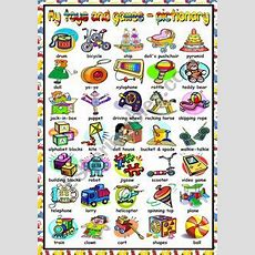 English Worksheet Toys And Games, A Pictionary (editable)  Family And Friends Worksheets
