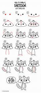 How To Draw A Raccoon Easy Drawing Step By Step Perfect