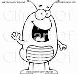 Flea Clipart Cartoon Waving Coloring Thoman Cory Outlined Vector Royalty sketch template