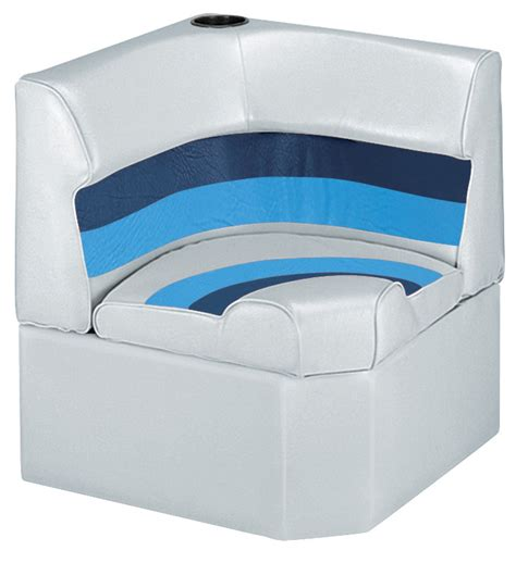 Pontoon Boat Lounge Seats by Wise Deluxe Pontoon Corner Section Seats Iboats