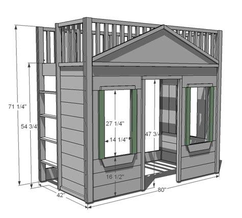 woodwork twin size loft bed plans  plans