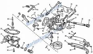 Johnson Carburetor Group Parts For 1964 3hp Jh