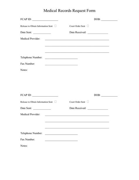 medical records request form  word   formats
