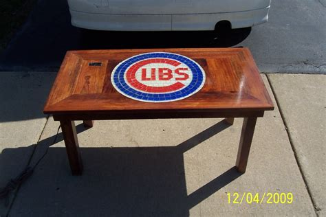 chicago cubs table l chicago cubs coffee table carpentry picture post