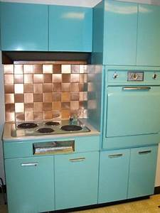 1950 U0026 39 S General Electric Kitchen  Metal Cabinets  Oven And