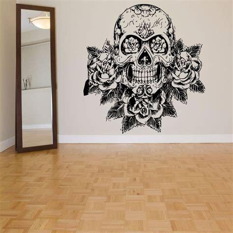 sugar skull wall wall room decor vinyl sticker mural decal sugar skull