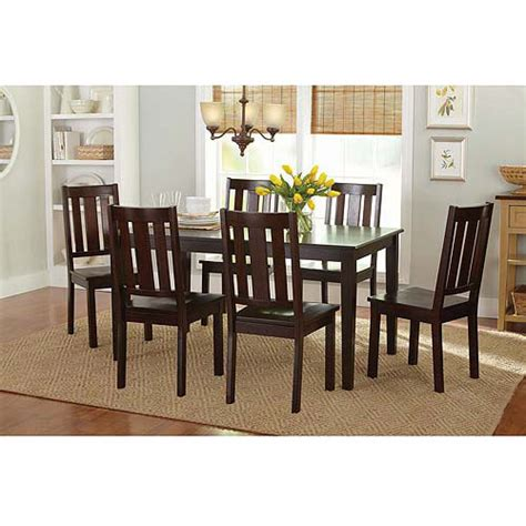 better homes and gardens 7 piece dining set mocha