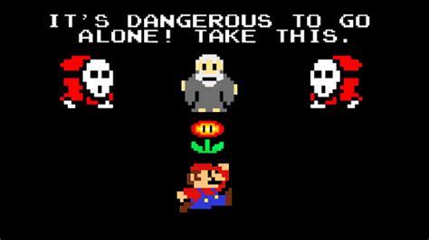 Its Dangerous To Go Alone Mario Zelda By Cjjennings On