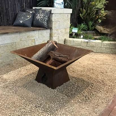 Fire Pit Square Metal Medium Collinsmetalfabrications Cart