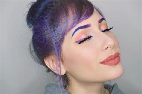 cotton candy purple pixie makeup tutorial umakeup