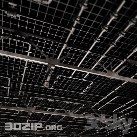 3D technical ceiling pipe 1 free download   3Dzip.ORG   3D