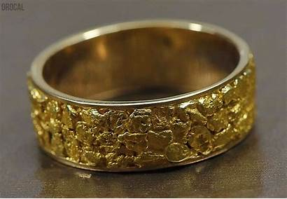 Nugget Ring Jewelry 14k Mens Casting Orocal