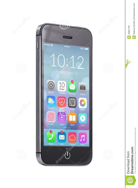 black modern smartphone with application icons on the colorful of mobile for blessing god in the stock