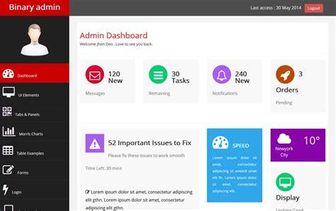 bootstrap admin templates  webthemez