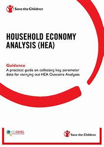 Household Economy Analysis Guidance  A Practical Guide On