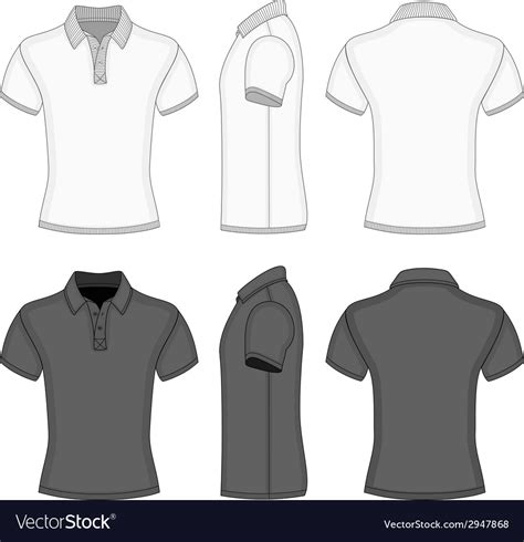 embroider polo shirt template mens polo shirt and t shirt design templates vector image