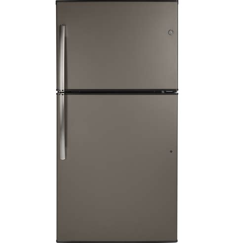 general electric giegmles ger energy starr  cu ft top freezer refrigerator slate