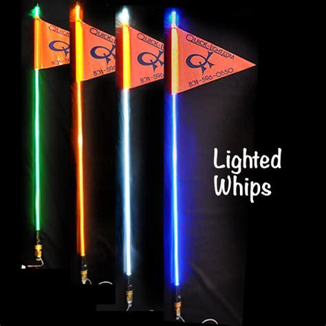 lighted whips for rzr quick light fiber optic quick release lighted whips