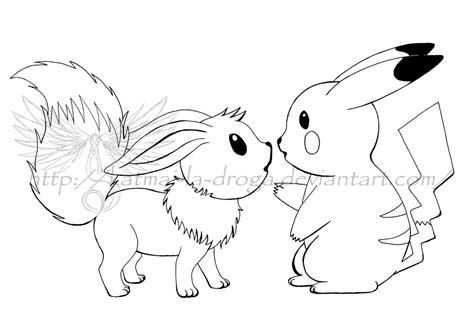 Kleurplaat Mega Evolutions Pikach by Eevee And Pikachu Coloring Pages Coloring Pages