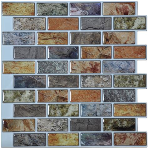 kitchen backsplash peel and stick tiles self adhesive mosaic tile backsplash color subway tile set of 6
