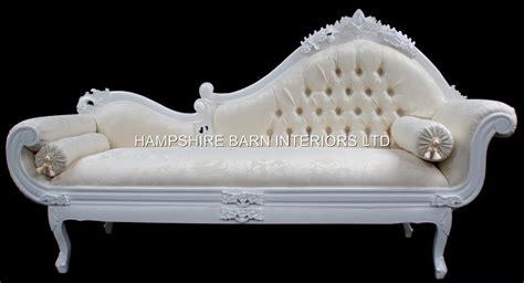 chaise longue salon white large ornate chaise longue sofa event home