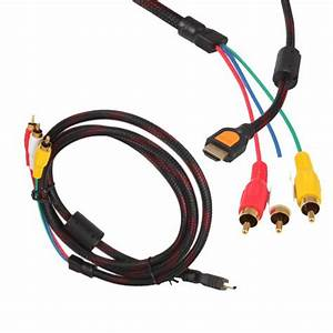 Hdmi Male To 3rca Male Extension Cable Three Color Coded