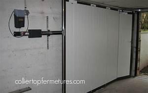 prix porte de garage coulissante motorisee maison travaux With porte de garage coulissante electrique