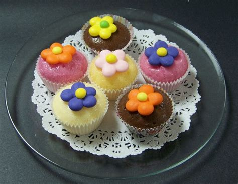 fake food mini cupcakes  plate
