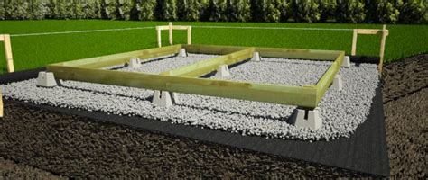 How To Lay Base For Shed by Cement Deck Block Foundation Can Purchase At Lowe S