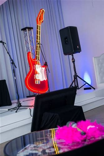 oversized guitar neon red