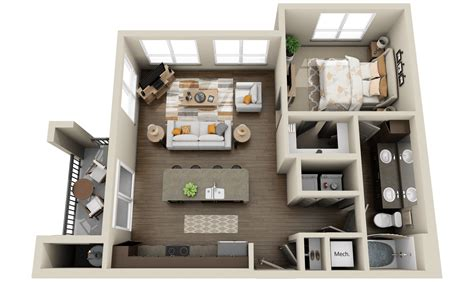 3 Bedroom Apartment House 3d Layout Floor Plans by Modern Apartments And Houses 3d Floor Plans Different Models