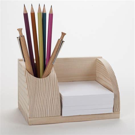 bureau en bois brut petit organisateur de bureau en bois porte cartes et