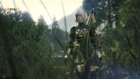 2b Animated Wallpaper - 2b and a2 nier automata player mods for gta5