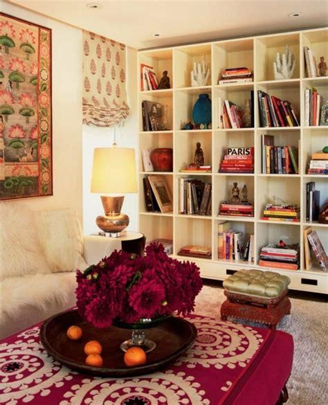 canap avec biblioth que int gr e 1001 jolies images d 39 intérieurs à déco bohème