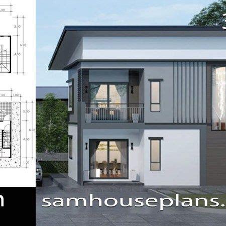 House Plans 7x12m with 4 Bedrooms Plot 8x15 Planos de