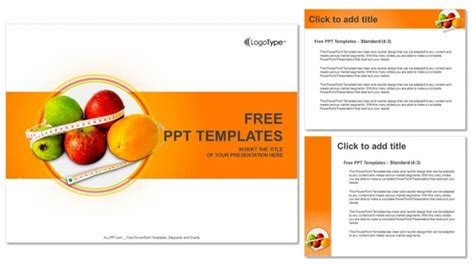 diet  nutrition powerpoint templates