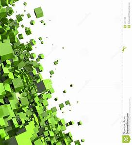Abstract Green Cubes Background Stock Illustration - Image ...