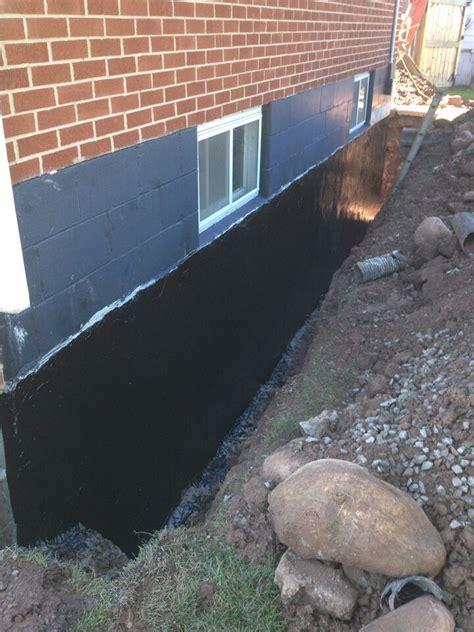 exterior foundation waterproofing  burlington hamilton