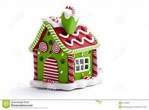 Christmas Gingerbread House Decoration Royalty Free Stock