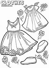 Clothes Coloring Colorings sketch template