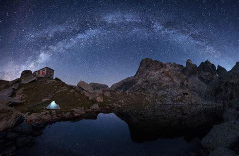 Nature Night Stars Milky Way Landscape Mountain Rock