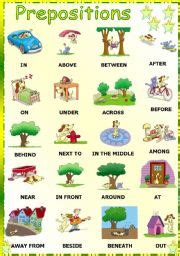 preposition pictures printable coloring wall
